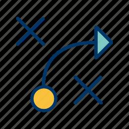 plan, strategy, tactics icon