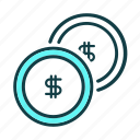 balance, business, coins, finance, funds, marketing, price icon