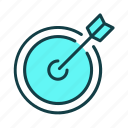 arch, business, finance, goals, marketing, operation, target icon