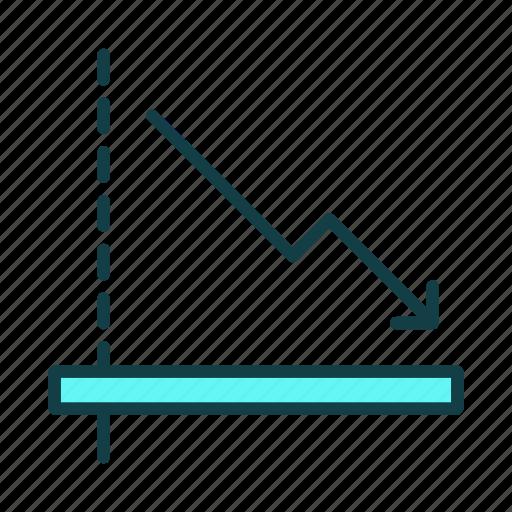 business, decrease, down, finance, graph, marketing, stock icon