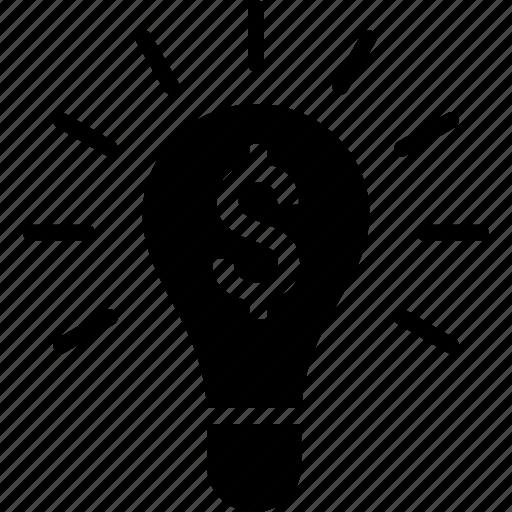 business, entrepreneur, entrepreneurship, idea, lightbulb, making, money icon