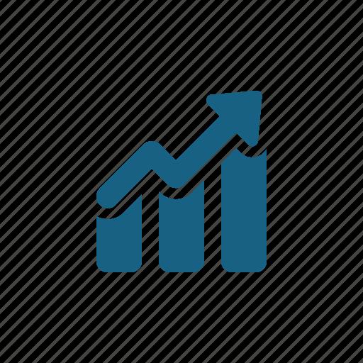 arrow, chart, graph, profit icon