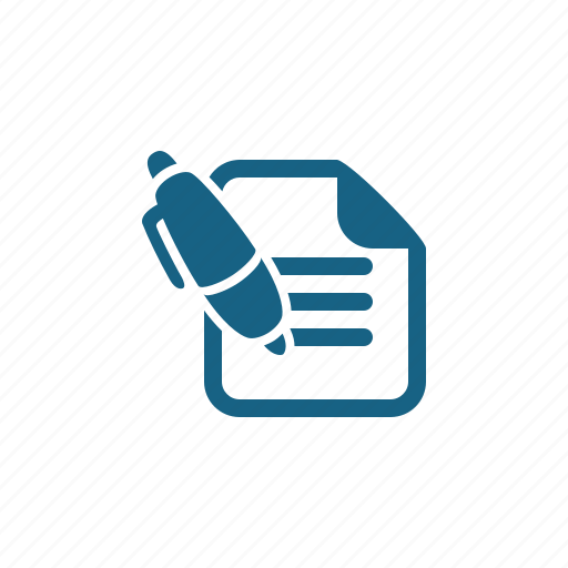 contract, document, page, pen, writing icon