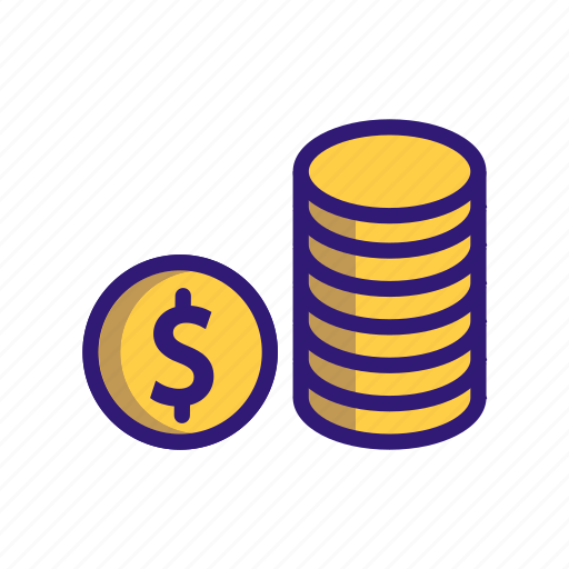 business, business finance, coin, dollar, finance, money icon