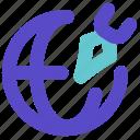 business, remote, signature icon