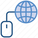 business, business & finance, globe, internet, mouse, worldwide icon