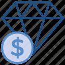 business, business & finance, diamond, dollar, jewel, money icon