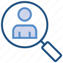 business, business & finance, employee, magnifier, search, user icon