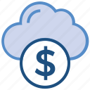business, business & finance, cloud, cloud computing, dollar, investment icon