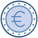 business, business & finance, coin, euro, euro coin, money icon