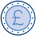 business, business & finance, coin, money, pound, pound coin icon