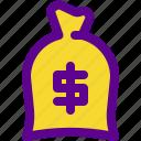 bag, banking, economy, money, of icon