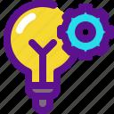 banking, bulb, economy, money, settings icon