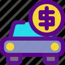 banking, car, economy, money icon