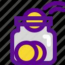banking, coin, economy, jar, money icon