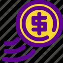banking, economy, flip, money icon