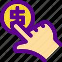 banking, economy, hand, money icon