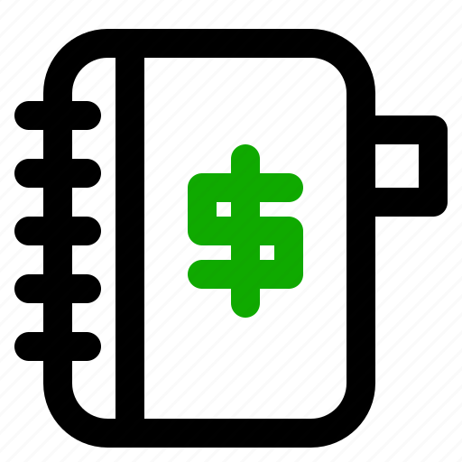 banking, economy, money, notepad icon