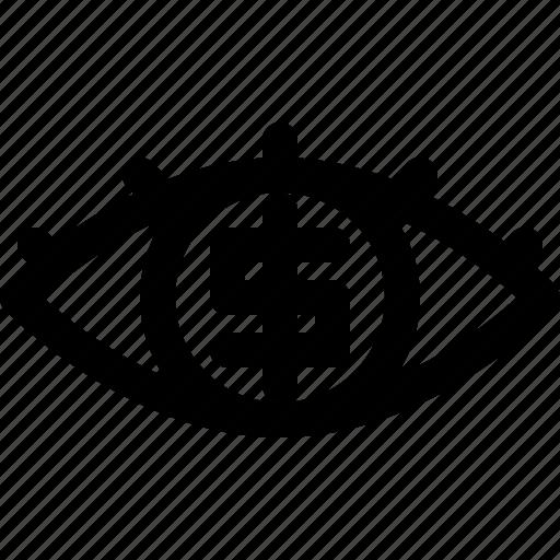 banking, economy, eye, money icon