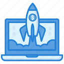 business, entrepreneur, launch, startup icon