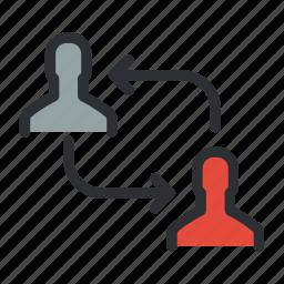arrange, change, management, move, people, rearrange, swap icon