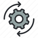 cog, configuration, gear, options, preferences, settings, spin icon