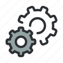 cogs, configre, configuration, gears, options, productivity, settings icon