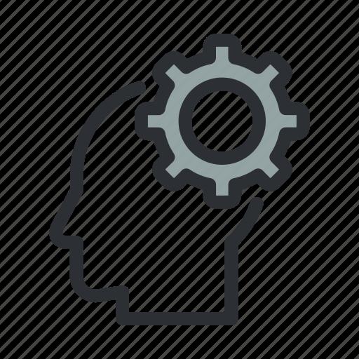 cog, idea, planning, productivity, strategy, think, thinking icon