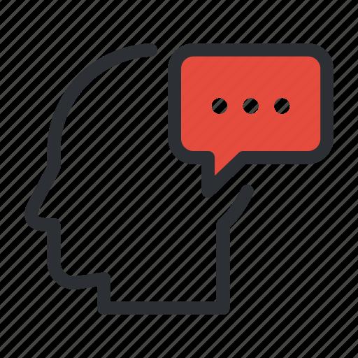 chat, communication, idea, message, talk, think, thinking icon