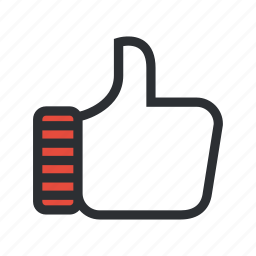 accept, facebook, favourites, gesture, like, share, social icon