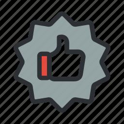 achievement, award, like, medal, premium, quality, reward icon