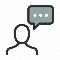 chat, comment, communication, man, person, talk, user icon