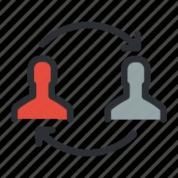 business, change, management, organisation, organization, people, planning icon