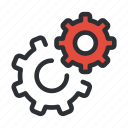 cogs, config, configure, gears, options, settings, support icon