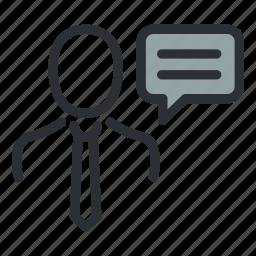 account, avatar, comment, conversation, speech, talk, user icon