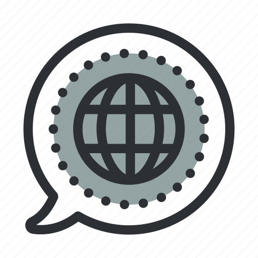 business, communication, global, globe, internet, promote, web icon