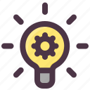 bulb, creative, idea, innovation icon