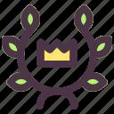 achievment, lauren, victory, wreath icon