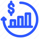 chart, finance, investment, money, profit icon