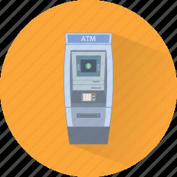 atm, cash, cash machine, credit card, money, transaction, withdraw icon