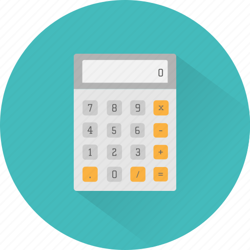 accounting, calculate, calculations, calculator, math, maths, numbers icon