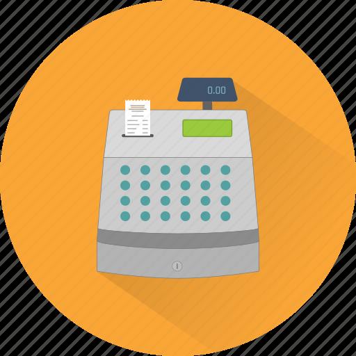 bill, cash, cashier, cashier machine, money, payment, receipt icon
