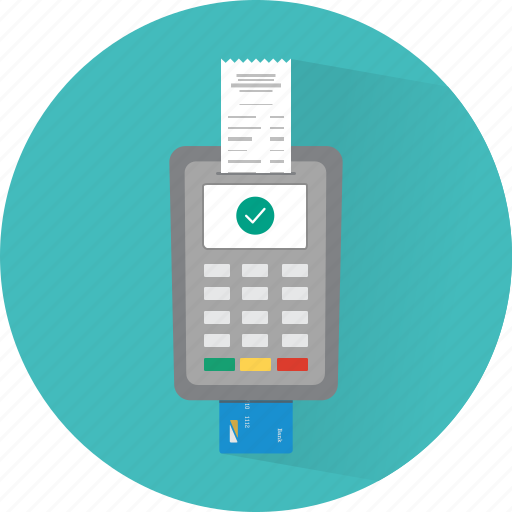 card, finance, payment, pos, receipt, transaction icon