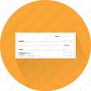 check, cheque, money, paycheck, payment, transaction, voucher icon
