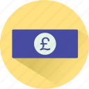 cash, currency, finance, funding, money, pound icon