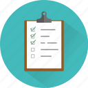 checklist, clipboard, feedback, questionnaire, survey, task icon