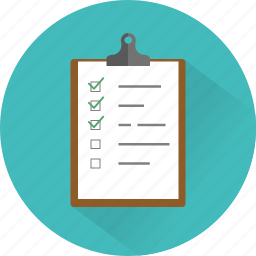checklist, clipboard, feedback, questionnaire, survey, task icon