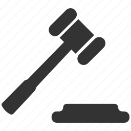justice, law, mallet, order icon