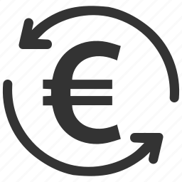 chargeback, euro, money, refund, restore, reverse, revert transaction icon