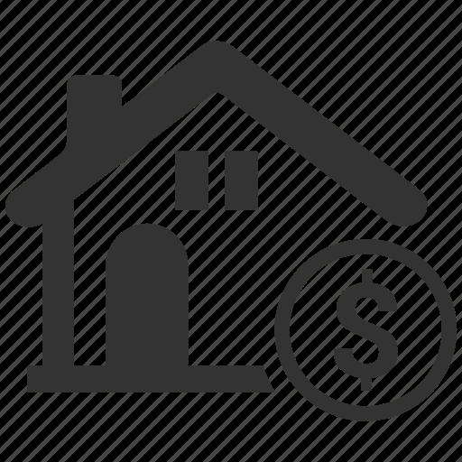 bank, banking, dollar, finance, home loan, loan, real estate icon
